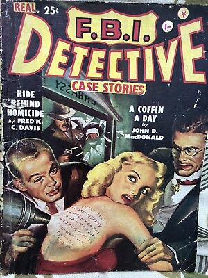 F.B.I. Detective Case Stories Pulp Magazine