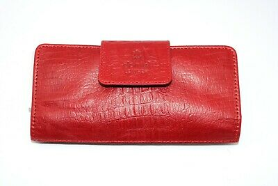 New Fashion Ladies Women Real Red Leather Clutch Purse Wallet Long Card Holder