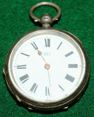 Antique Silver Pocket Watch for Parts or Repairs LEO 9183 on the dial