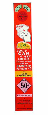 vtg condom machine decal vending novelty NOS water transfer Get Lucky Toy