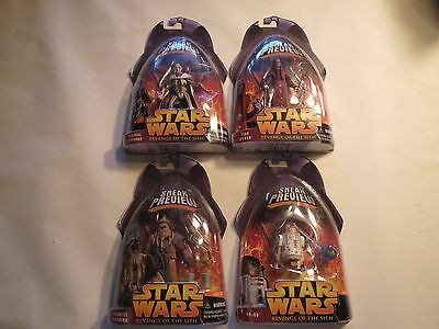 Star Wars Revenge of the Sith Sneak Preview Lot of 4 Figures
