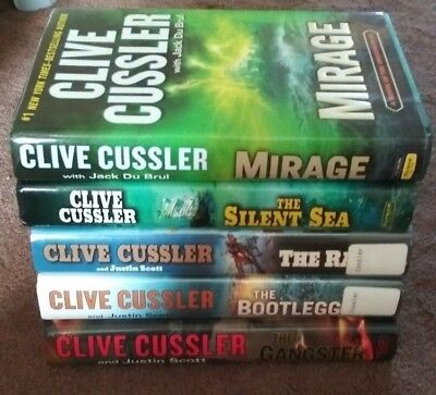 Clive Cussler Hardcover Book Lot of 5 mixed shipping included