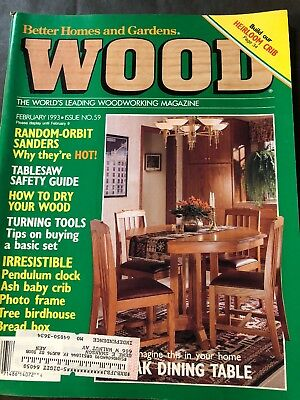 BETTER HOMES & GARDENS WOOD MAGAZINE WOODWORKERS #59 Feb 1993 Dining table