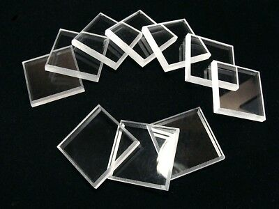 """10 Clear Square Mineral Display Bases  2 """""""
