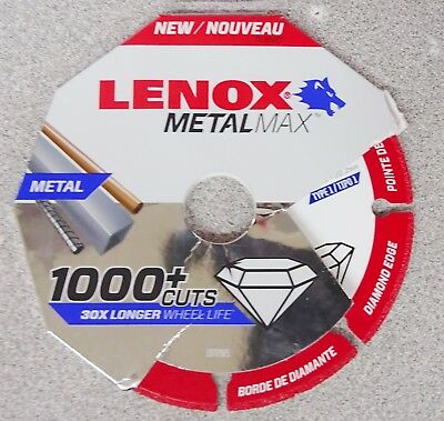 "Lenox Tools METALMAX Diamond Edge Cutoff Wheel, 4.5"" x 7/8"" 1972921"