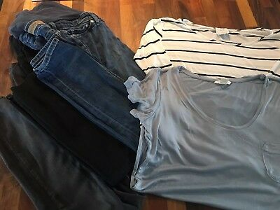 VGC Maternity Bundle Uk 10/12 M Jeans, Tops And Work Trousers H&M/Asos