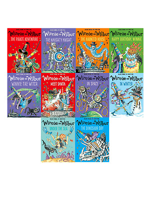 Winnie the witch 10 Book Set Collection - Children illustrated Series 2 In Space