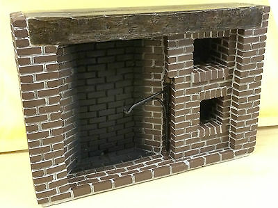 Tudor Style Walk-in fireplace, Dolls House Miniature, Brick Work Design, Tudor