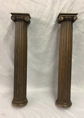 Antique Pair Fluted Fireplace Furniture Ionic Columns 180-18C