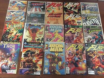 GRAB BAG Lot of Marvel and DC Copper age Modern Comics IRON MAN FLASH MORE! GB13