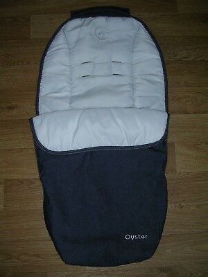 Genuine OYSTER Dark Grey Apron Footmuff Cosytoes Cosy Toes Pushchair Liner