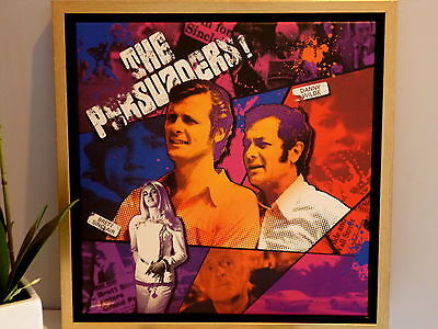 Tony Curtis + Roger Moore = The Persuaders, Toile + cadre.