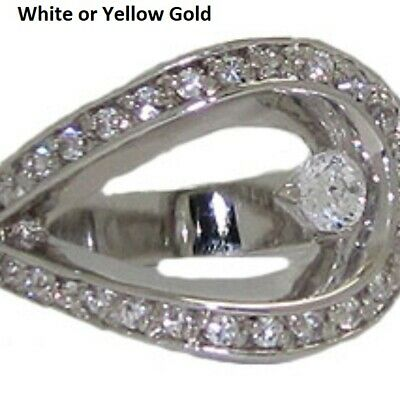 ring white or yellow gold plate swarovski crystal sz 5 NWT quality jewelry