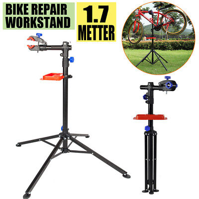 Portable Home Bike Repair Stand Adjustable Height Bicycle Stand Tray Foldable