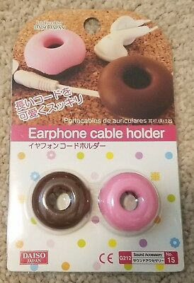 Earphone Cable Holder Cord Winder [Donut] (set of 2) **FREE SHIPPING**