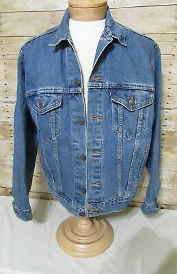 LEVIS VTG 4 Pocket Red Tab Denim Trucker Jean Jacket 70507 4890 Size Medium
