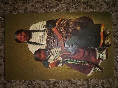 Antique Native American Post Card Dated 1909