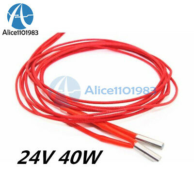 10PCS Reprap 24v 40W Ceramic Cartridge Wire Heater For 3D Printer Prusa Mendel