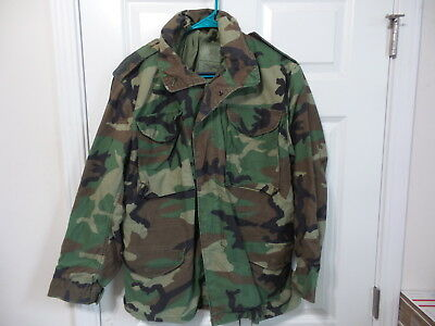 Golden Mfg 1991 Army M65 Cold Weather Field Jacket Woodland Bdu Small Regular
