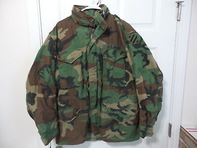 So-Sew Styles 1987 Army M65 Cold Weather Field Jacket Woodland Bdu Large Regular