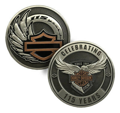Harley-Davidson Celebrating 115th Year Anniversary Challenge Coin,1.75in 8008390