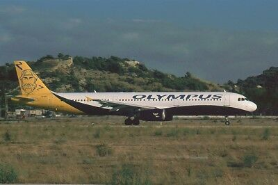 Aircraft Slide/Dia : A321  ,  Olympus (Monarch c/s) ,  SX=ABY