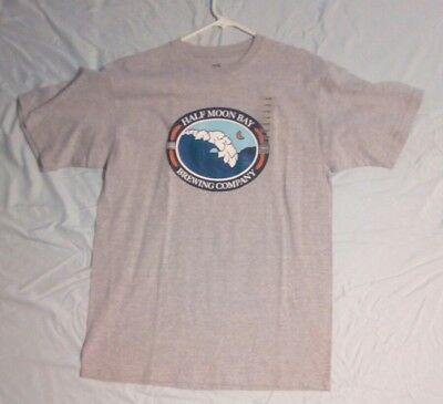 Half Moon Bay Brewing Company T-shirt large new short sleeves, see pictures
