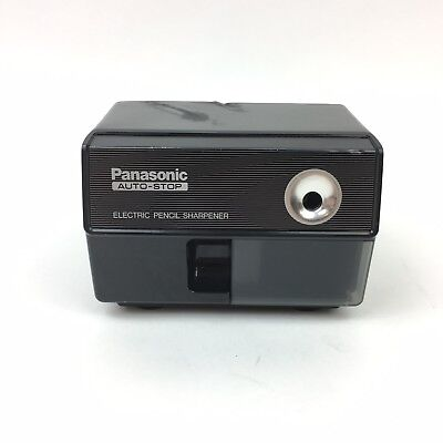 Vintage PANASONIC AUTO STOP ELECTRIC PENCIL SHARPENER MODEL KP-110 MADE IN JAPAN