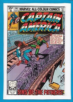 """Captain America #246_June 1980_Vf Minus_""""the Sins Of The Fathers""""_Bronze Age Uk!"""