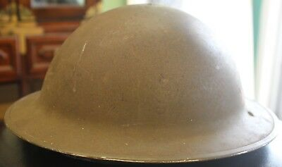 Original British Army BRODIE STEEL HELMET with Liner WW2