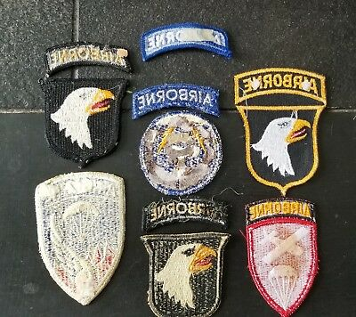 WWII 1960s US Army 21st GHOST 101st 187th Airborne Infantry Division Patch Lot