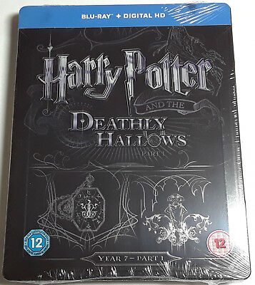 HARRY POTTER AND THE DEATHLY HALLOWS PART 1 New BLU-RAY STEELBOOK Region-Free 7