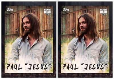 2x Topps WALKING DEAD DIGITAL Card Trader PAUL JESUS SEASON 7 SELECTS CHARACTERS