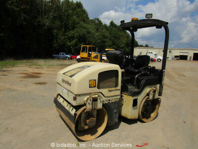 2004 Ingersoll Rand DD28HF Smooth Double Drum Vibratory Ride On Roller bidadoo