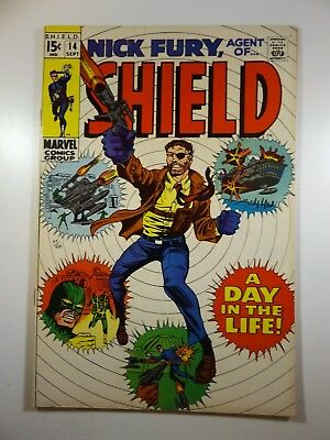 """Nick Fury, Agent of Shield #14 """"A Day in The Life!"""" Beautiful VF Condition!!"""