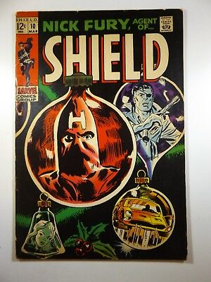 """Nick Fury, Agent of Shield #10 """"Twas the Night Before Christmas!"""" VG Condition!!"""