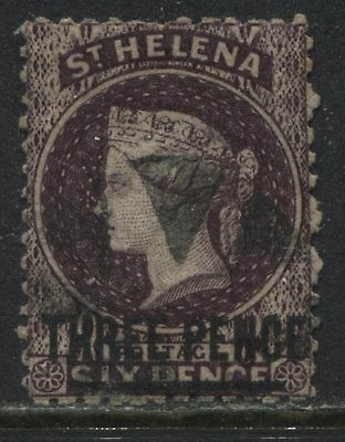 St. Helena QV 1868 3d on 6d dark violet used