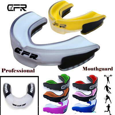 Gel Gum Shield Mouth Guard Kids Junior MMA Impact Boxing Rugby Teeth Protect AM