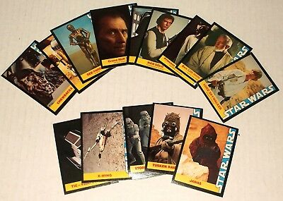 1977 Star Wars Wonder Bread Trading Cards Complete Set Of 16 Excellent Condition