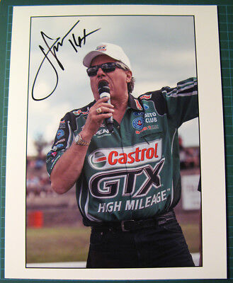 John Force NHRA Top Fuel Racer & autograph - Unique picture 1 of 1