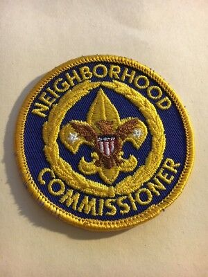 """Old Boy Scout  Neighborhood Commissioner   3""""  Round Patch  w/ Gauze Back"""
