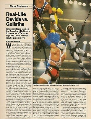 1991 Magazine Article American Gladiators TV Show Vid Games,Cards,Toys CLIPPING