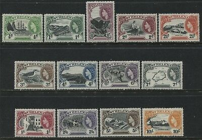 St. Helena QEII 1953 complete definitive set mint o.g.