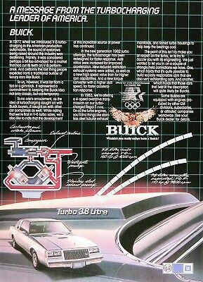 1983 BUICK 3.8 REGAL T-TYPE Original Vintage Advertisement