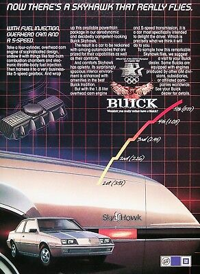 1983 BUICK SKYHAWK COUPE Genuine Vintage Advertisement ~ 1.8 LITER