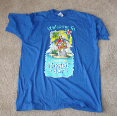 Captain Morgan Welcome to Parrot Bay Blue Extra Large Tee Shirt