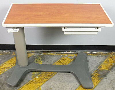 Hill Rom Overbed Table Adjustable Height - WORKING