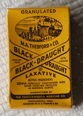 Black Draught Laxative -- vintage small unopened box -- M.A. Thedford & Sons