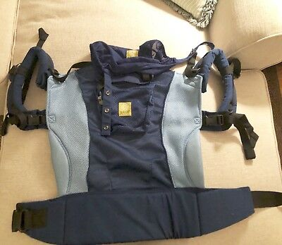 Lillebaby Navy Blue Breathable 3D Mesh Carrier Complete Airflow Baby Blue