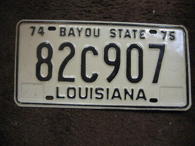 1974-75 Louisiana License Plate